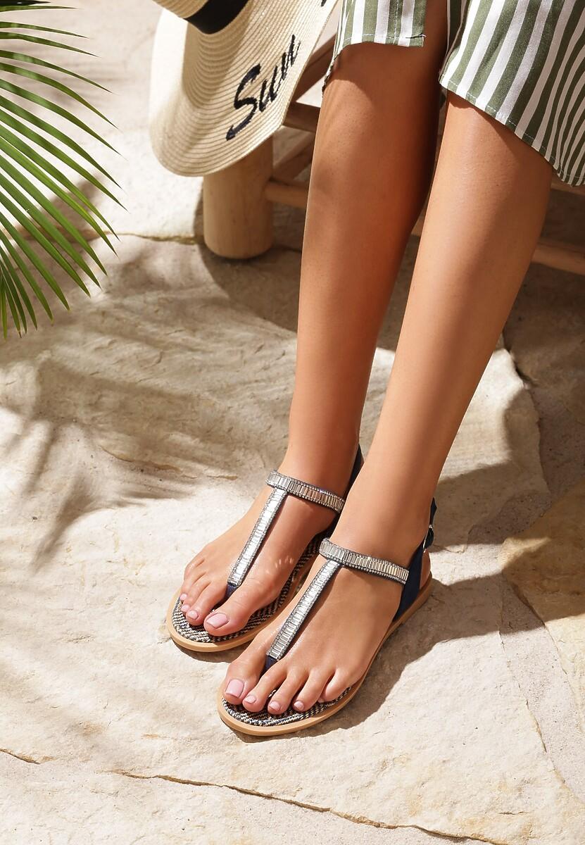 Granatowe Sandały Glamorous