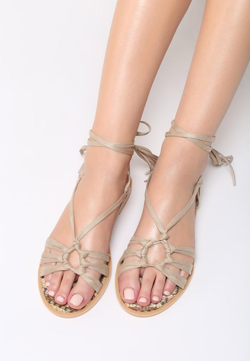 Beżowe Sandały Petite Fleur