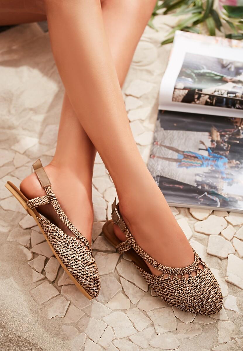 Brązowe Sandały Almost Paradise