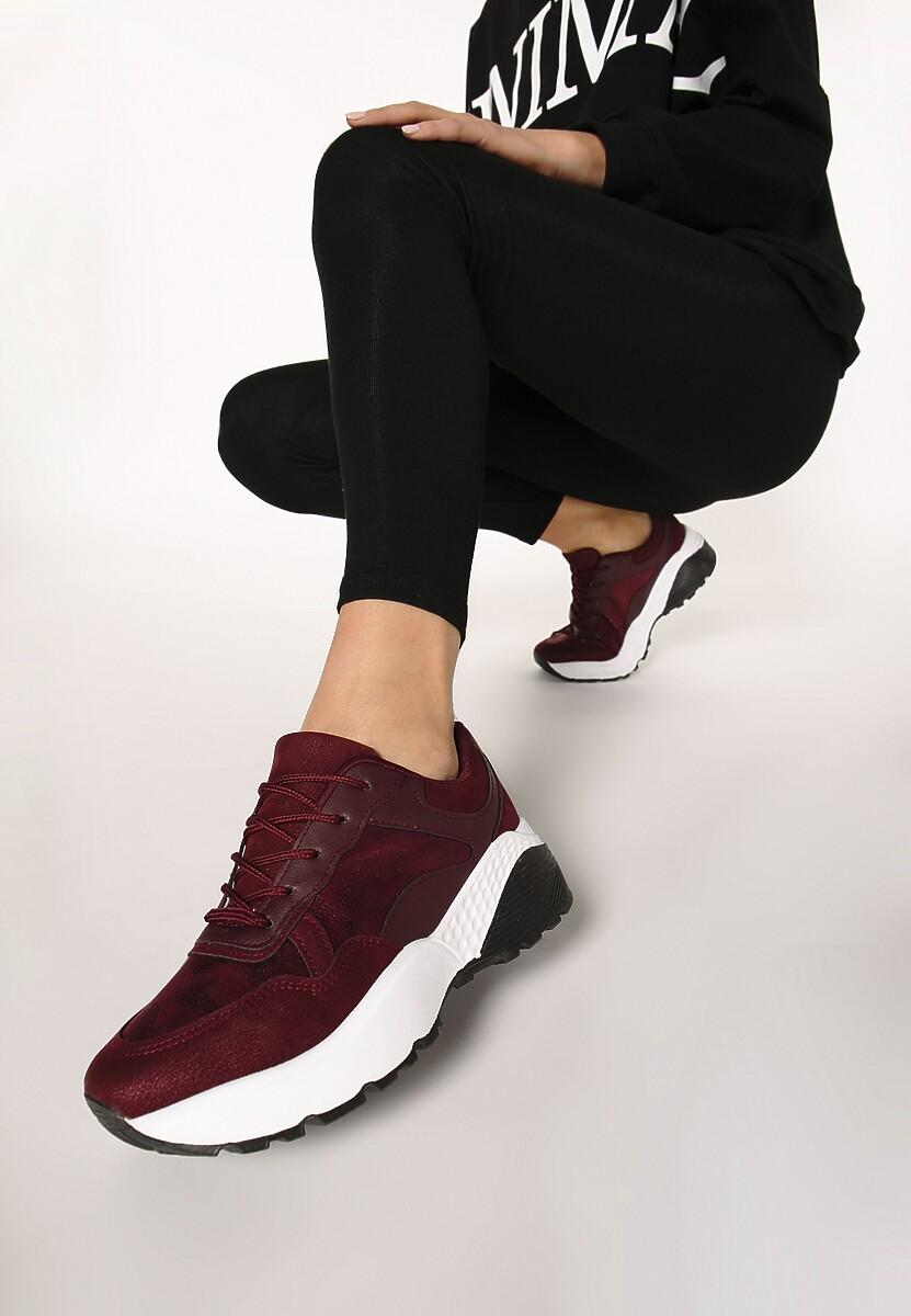 Bordowe Sneakersy Moonchild