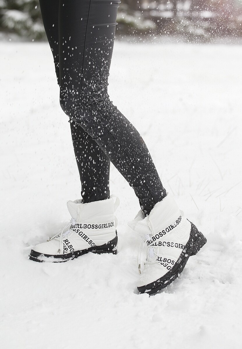 Białe Śniegowce Winterweight