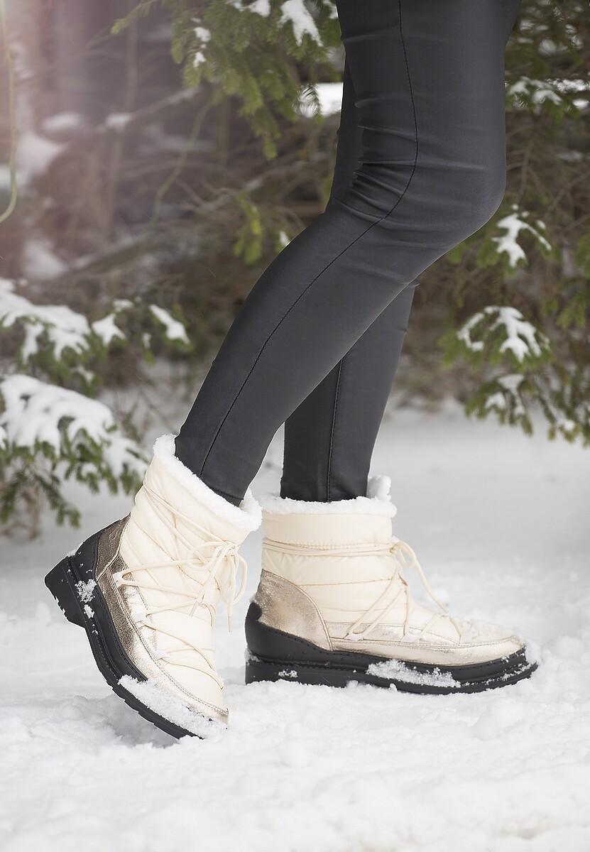 Beżowe Śniegowce No Need