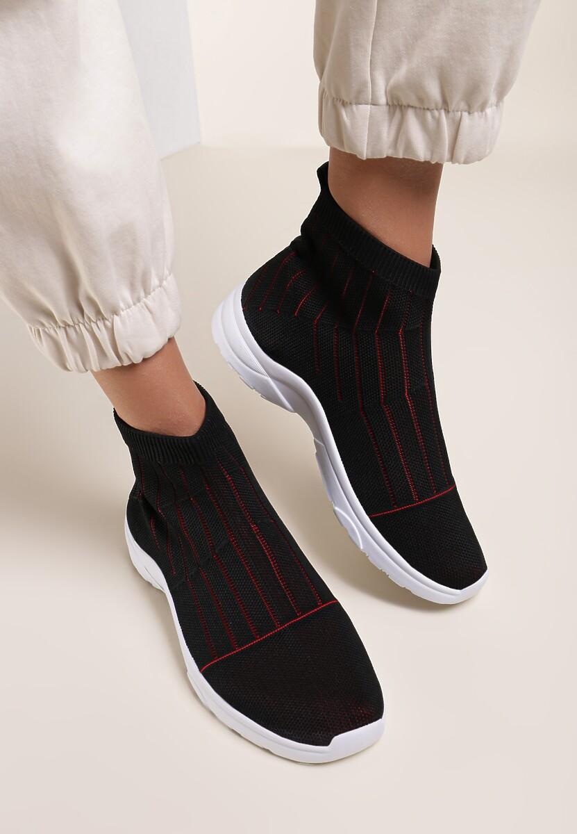 Czarno-Czerwone Sneakersy Stole The Show