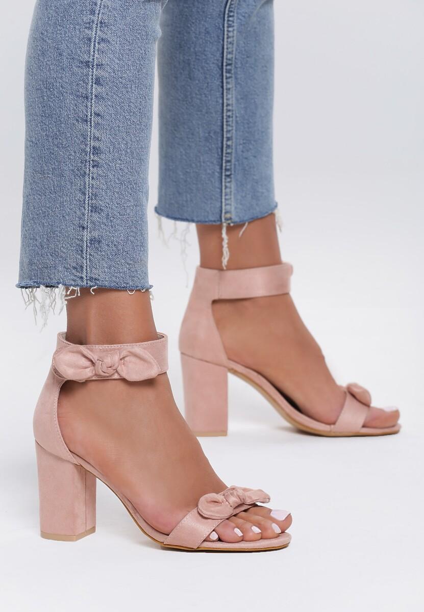 Różowe Sandały Emphasize