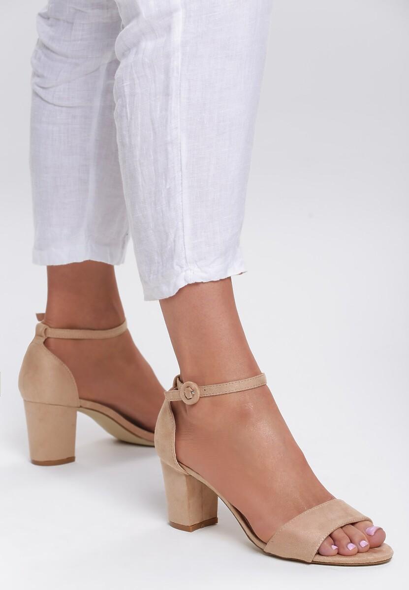 Beżowe Sandały Simpleness