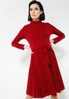 Bordowa Sukienka For You