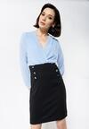 Niebiesko-Czarna Sukienka Seductive Back
