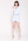 Niebieska Sukienka Big V