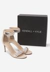 Beżowe Sandały Kendall + Kylie Shiny Leather