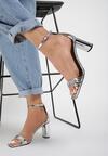 Srebrne Sandały Kendall + Kylie Glamourous