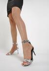 Srebrne Sandały Kendall + Kylie Shiny Leather