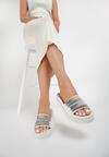 Białe Klapki Kendall + Kylie Gleaming