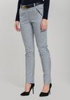 Granatowo-Białe Spodnie Single