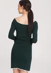 Ciemnozielona Sukienka Burgund