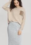Jasnobeżowy Sweter Opuscule