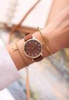 Brązowy Zegarek Cyclamen