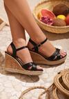 Czarne Sandały Candor
