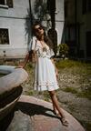 Biała Sukienka Satisfier