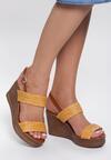Żółte Sandały Sleepy