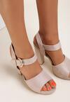 Beżowe Sandały Fain