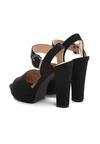 Czarne Sandały Fain