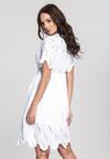 Biała Sukienka Cappucino