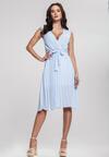 Niebieska Sukienka Oversweet