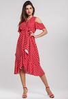 Czerwona Sukienka Breezes
