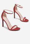 Czerwone Brokatowe Sandały Snaffle