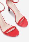 Czerwone Lakierowane Sandały Comity