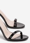Czarne  Lakierowane Sandały Snaffle