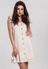 Beżowa Sukienka Modus
