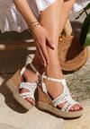 Białe Sandały Cattleya