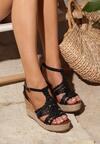 Czarne Sandały Cattleya