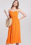 Pomarańczowa Sukienka Expecting
