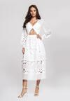 Biała Sukienka Sinew