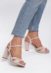 Beżowe Sandały String Along With