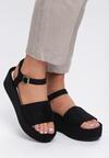 Czarne Sandały Back