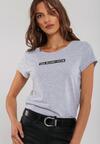 Szaro-Czarny T-shirt Myself
