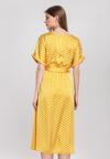Żółta Sukienka Allemande