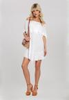 Biała Sukienka Timidity