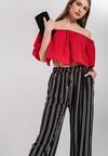 Czarne Spodnie Striped