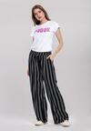 Granatowe Spodnie Striped
