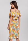 Żółta Sukienka Bask