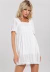 Biała Sukienka Zestforlife