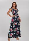 Granatowa Sukienka Caustic
