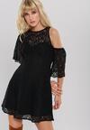 Czarna Sukienka Amber Coating