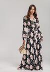 Granatowo-Różowa Sukienka Aya