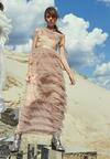 Ciemnobeżowa Sukienka Romantically