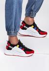 Czarno-Czerwone Sneakersy Alaia